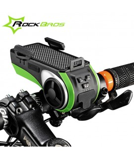 FAROL ROCKBROS MULTIFUNCIONAL C/ BLUETOOTH/MP3